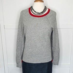 J.Crew | Gray Color Block Sweater
